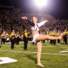 Twirler Courtney Chandler performs.