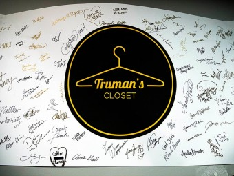 Signatures on a Truman's Closet sign