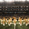 The Golden Girls perform during halftime.