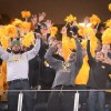 Tigers fans celebrate a Cotton Bowl victory and chant S-E-C!