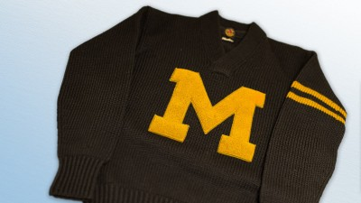 Wool M Men's Club sweater