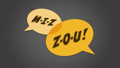 M-I-Z, Z-O-U word balloons