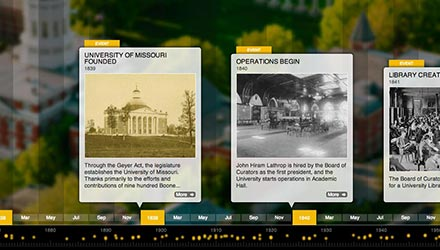 Mizzou Timeline screenshot
