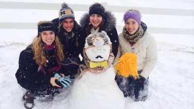 @samibabes93, @Lulaberry, @KenzieSchranck and @cmoneyy12 by their snow creation