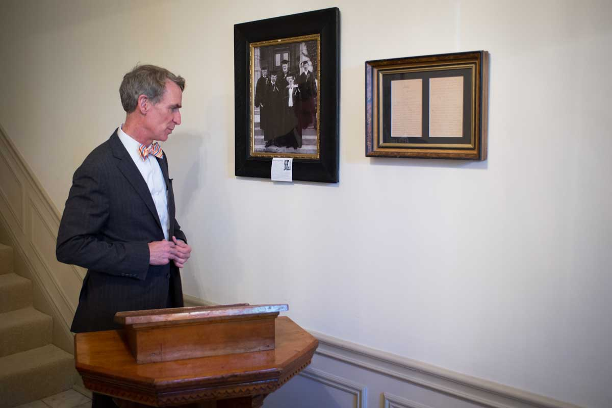 Bill Nye and Mark Twain's lectern