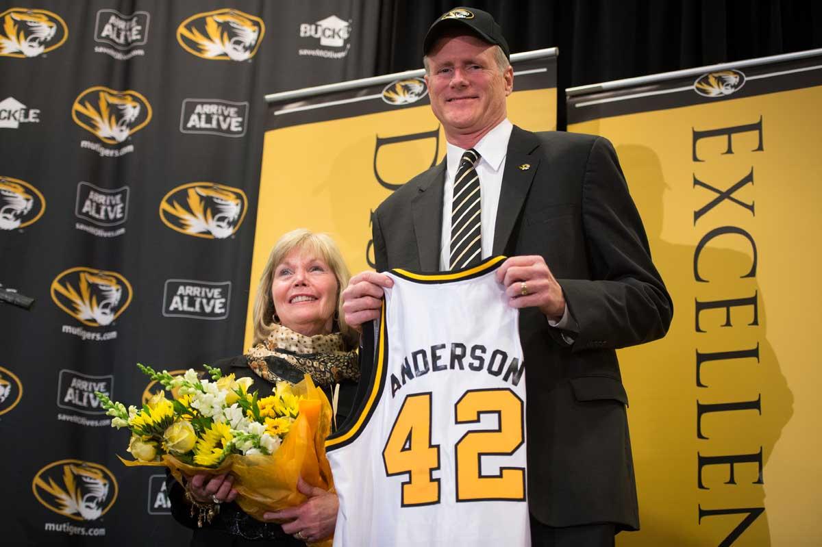 Kim Anderson. New basketball coach at Mizzou. Mike Alden.