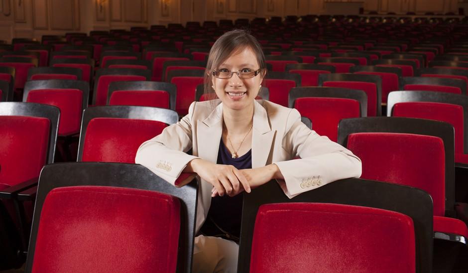 Stephanie Berg in Powell Symphony hall, st. louis, mo