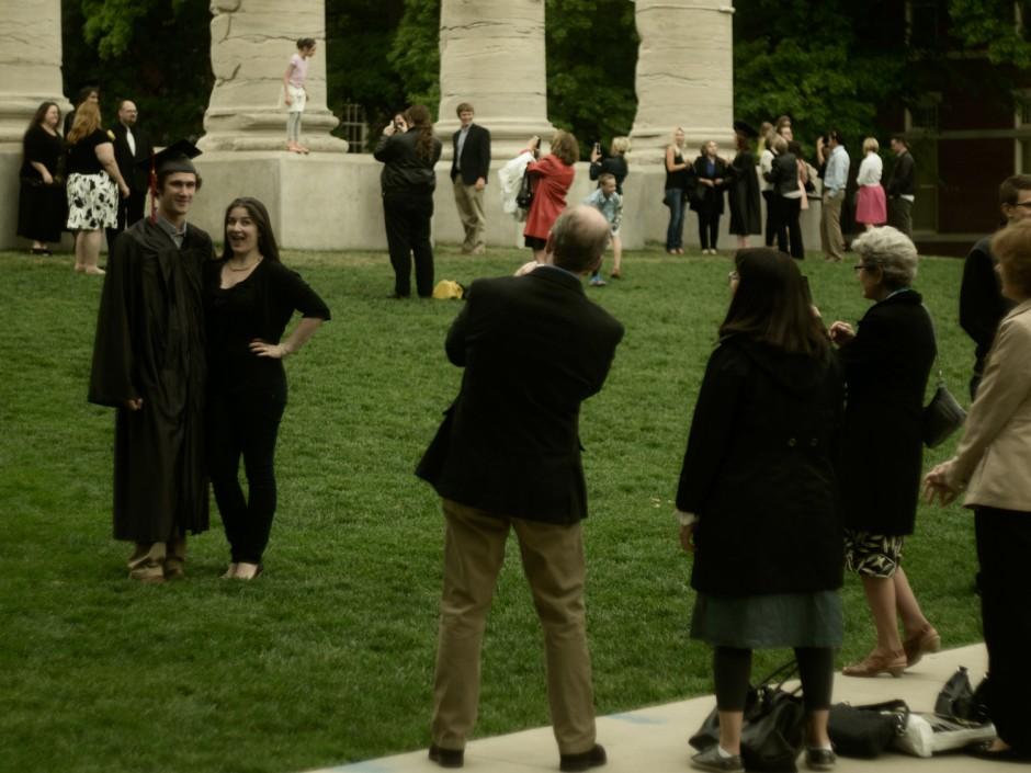 Graduates and families.