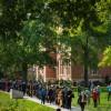 Academic processional on Francis Quadrangle.