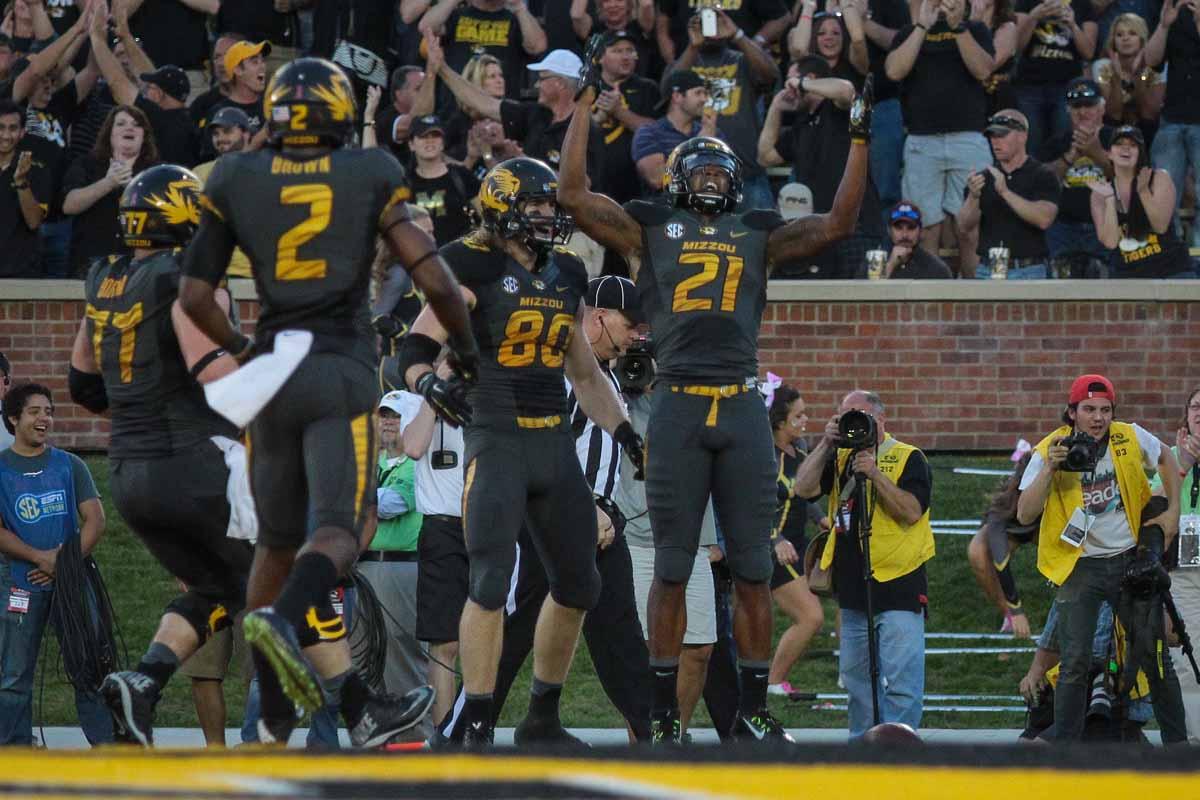 Senior wideout Bud Sasser caught two touchdowns against Vanderbilt, giving him a team-high six receiving touchdowns this season.