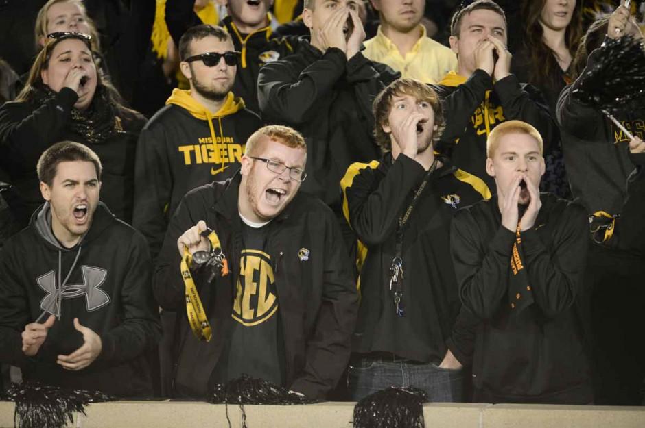 Fans in black