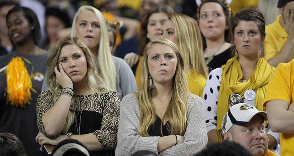 Sad fans.