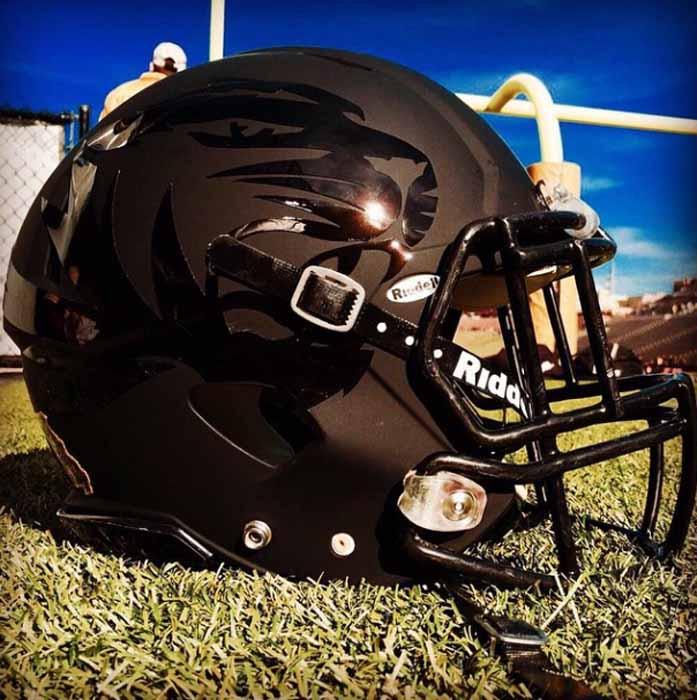 Football helmet.