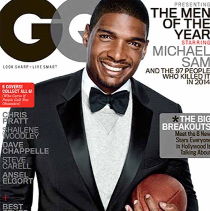 Michael Sam on the cover of GQ