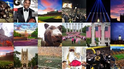 Tiles of Instagram photos