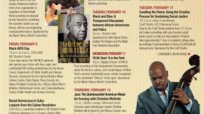 Black History Month Calendar