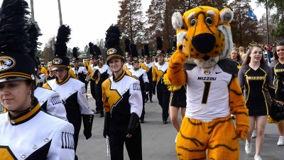 Truman with Marching Mizzou