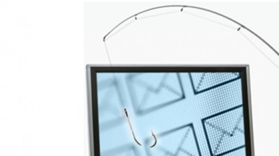 Fish hook and computer screen