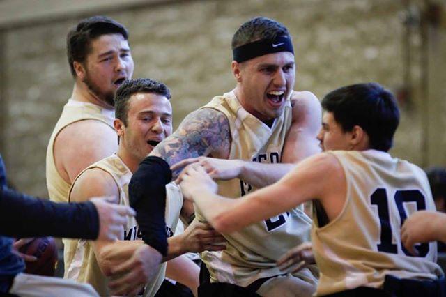 Wheelchair basketball team.