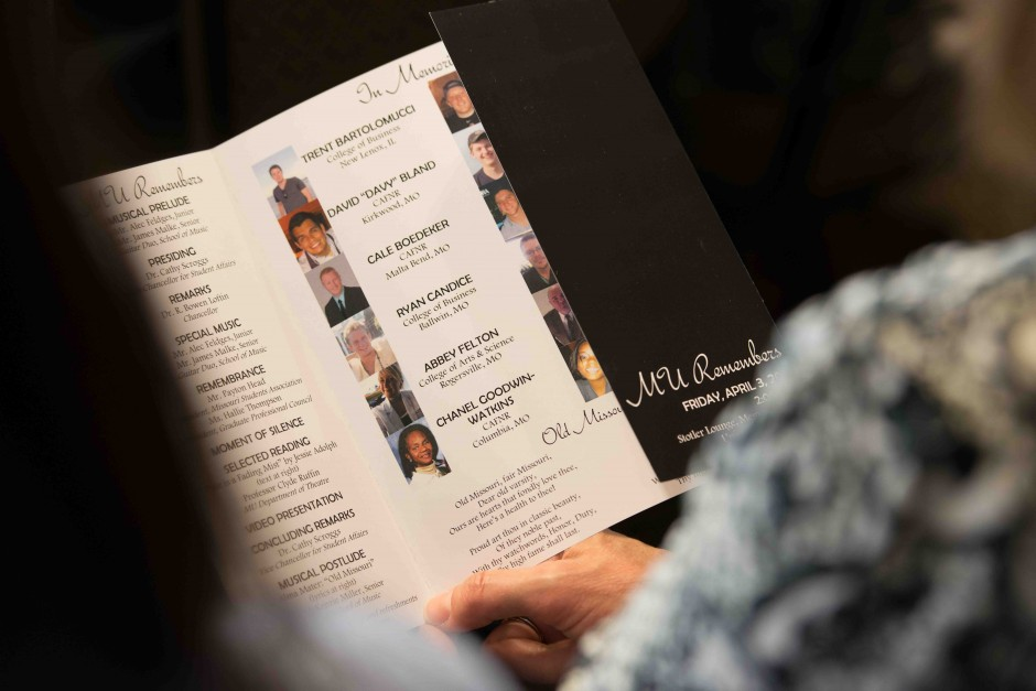 Photos and brief biographies of those in memoriam were published for attendees to view.