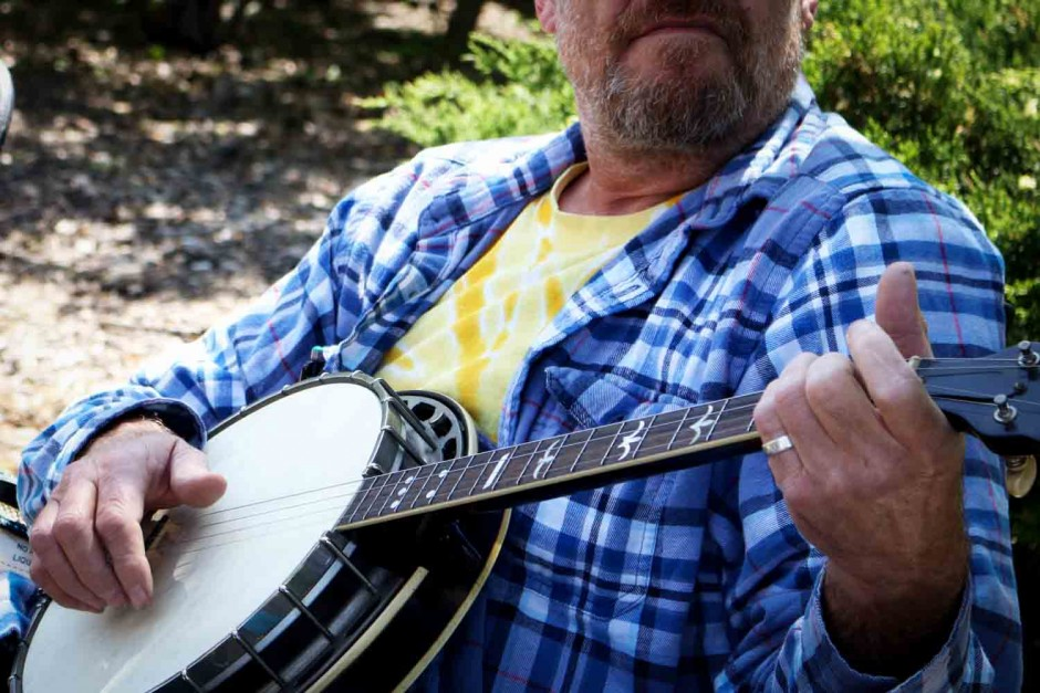 John D'Agostino plays the banjo.