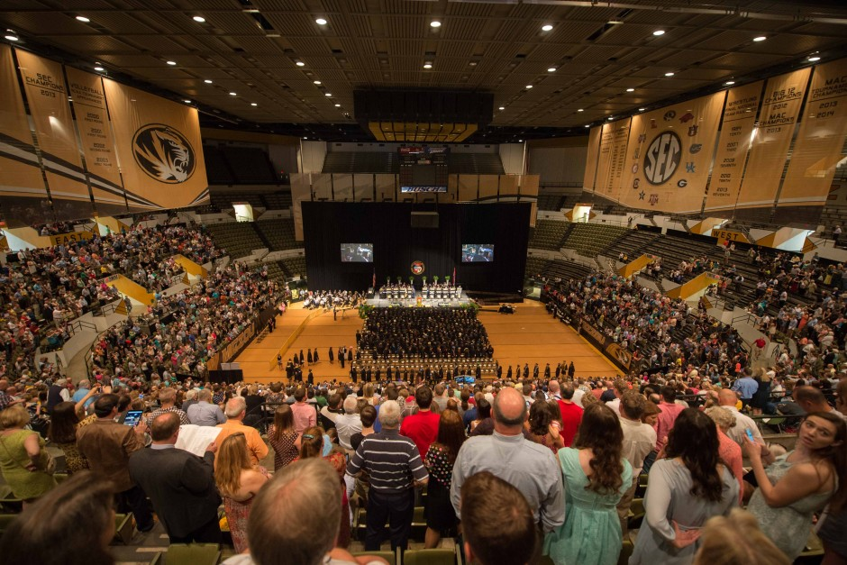 Graduation. Hearnes Center. CAFNR.