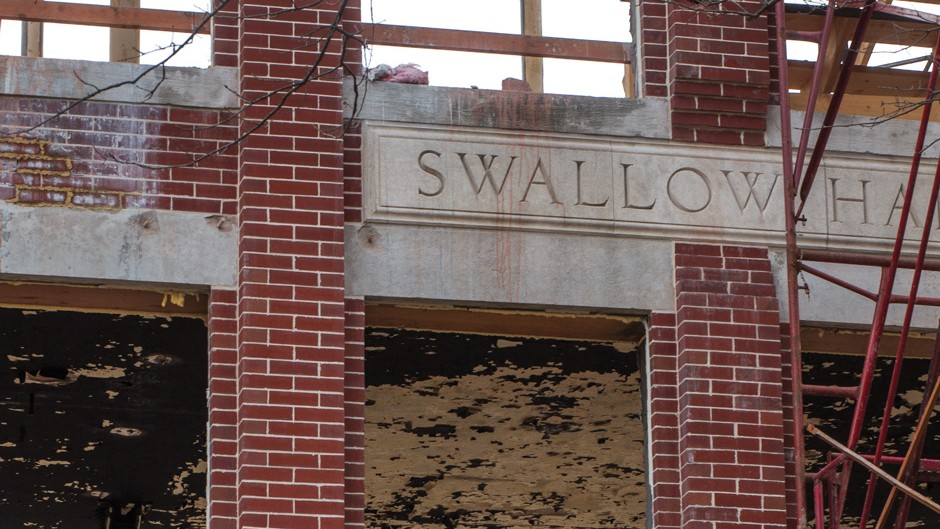 Swallow Hall construction
