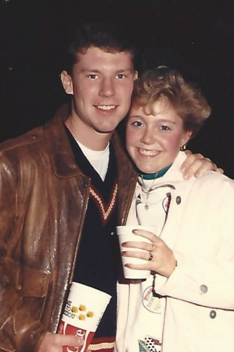 Greg Boehne and Tara Kott on a date
