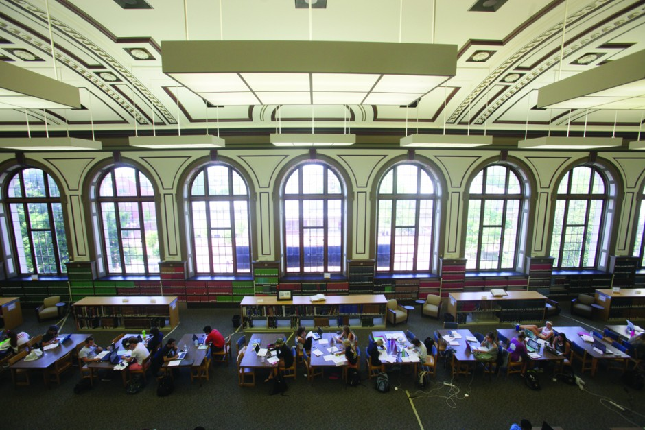 Ellis Library's Grand Reading Room.