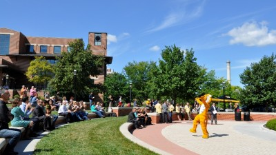 Truman the Tiger on Traditions Plaza.