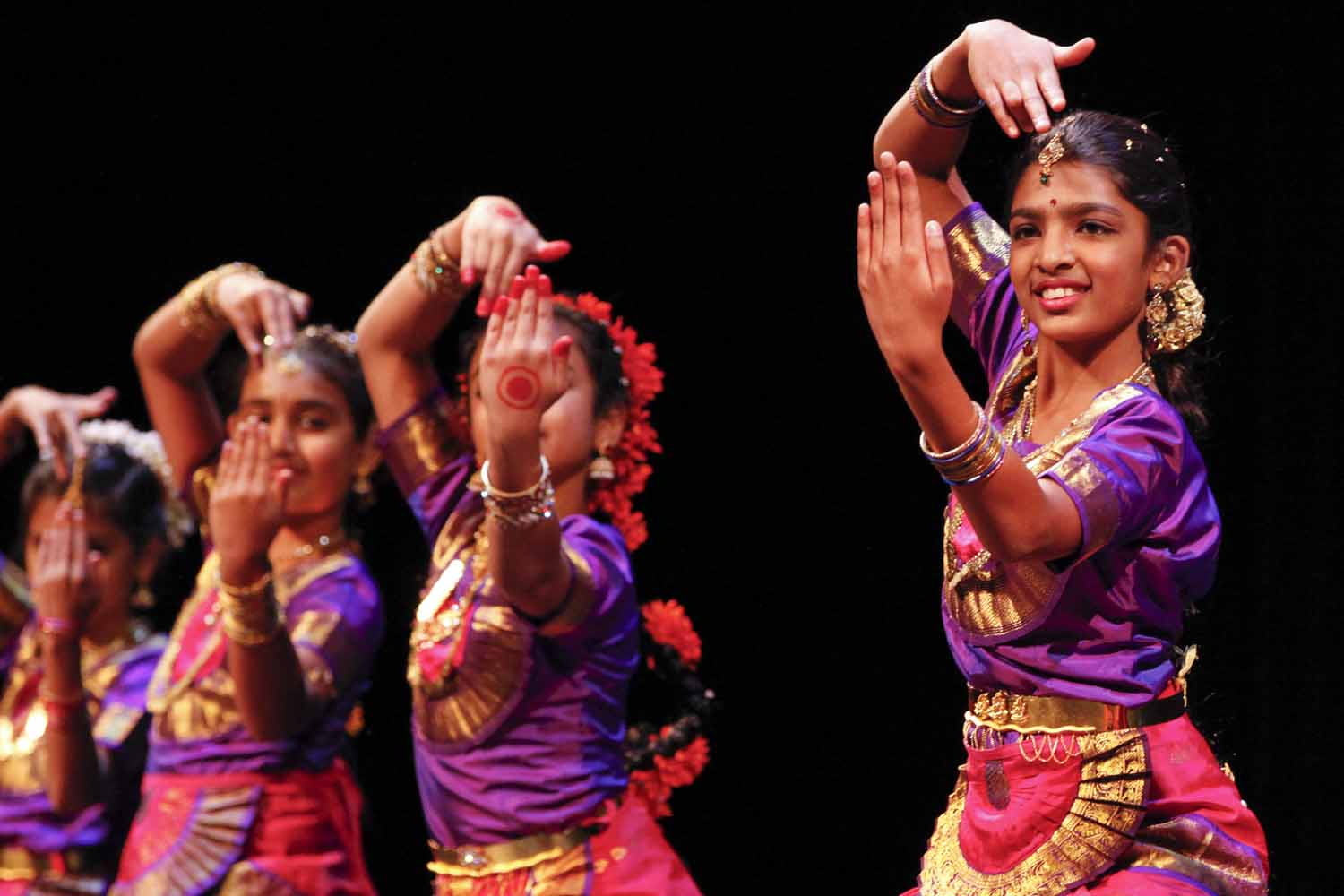 Dancers perform during the first act of the evening at India Nite.