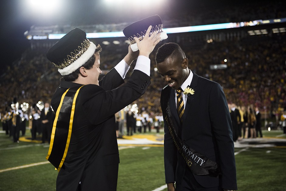 homecoming king being crowned
