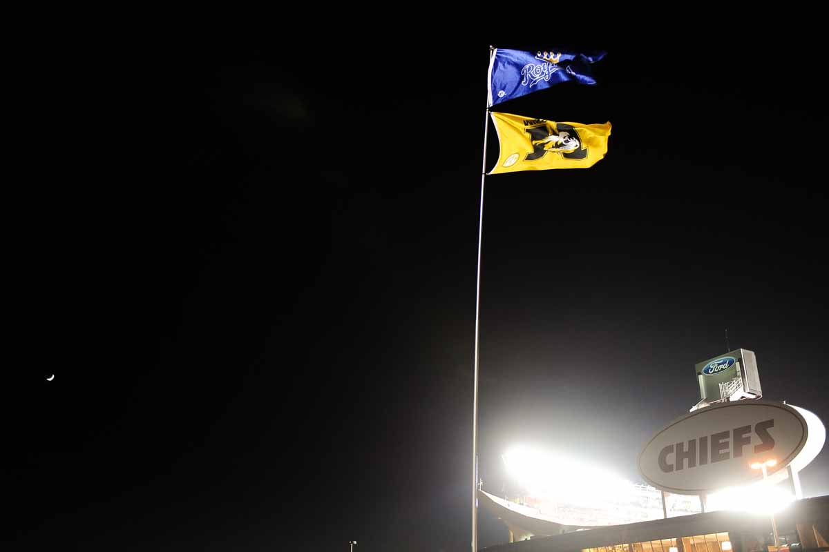 For the first since November 26, 2011, when Mizzou defeated Kansas, the Tigers returned to Arrowhead Stadium in KC. Photo by Shane Epping.