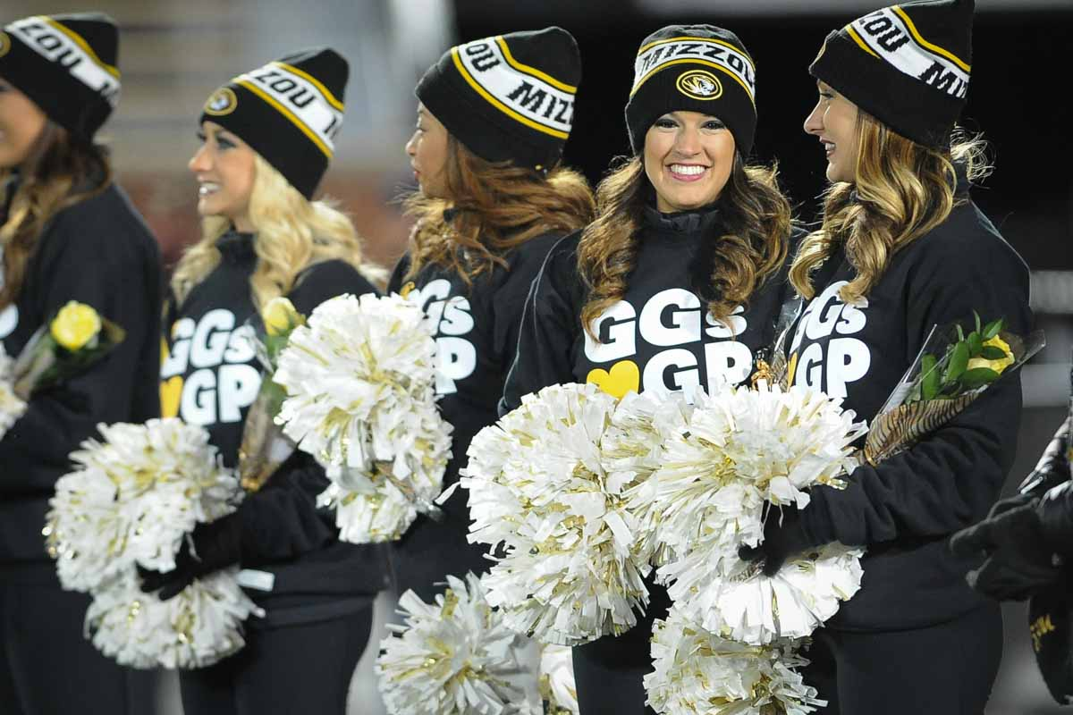 """Golden Girls show their support for Gary Pinkel with shirts reading GGs """"LOVE"""" GP. Photo by Shane Epping."""
