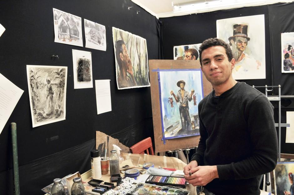 Simon Tatum and his art.