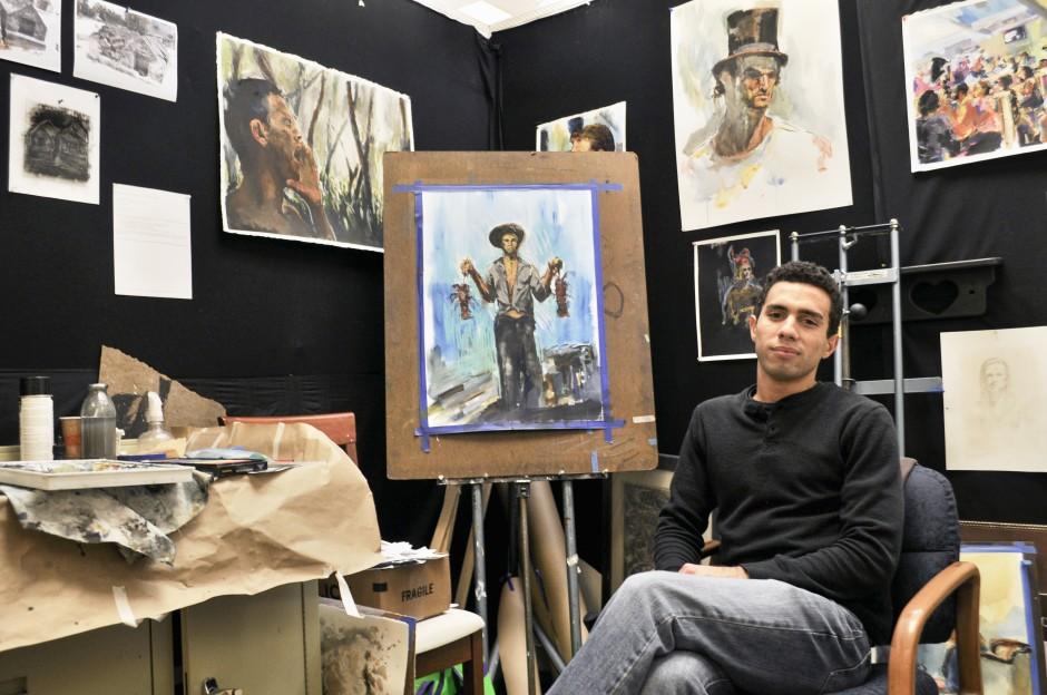 SImon Tatum in his art studio.