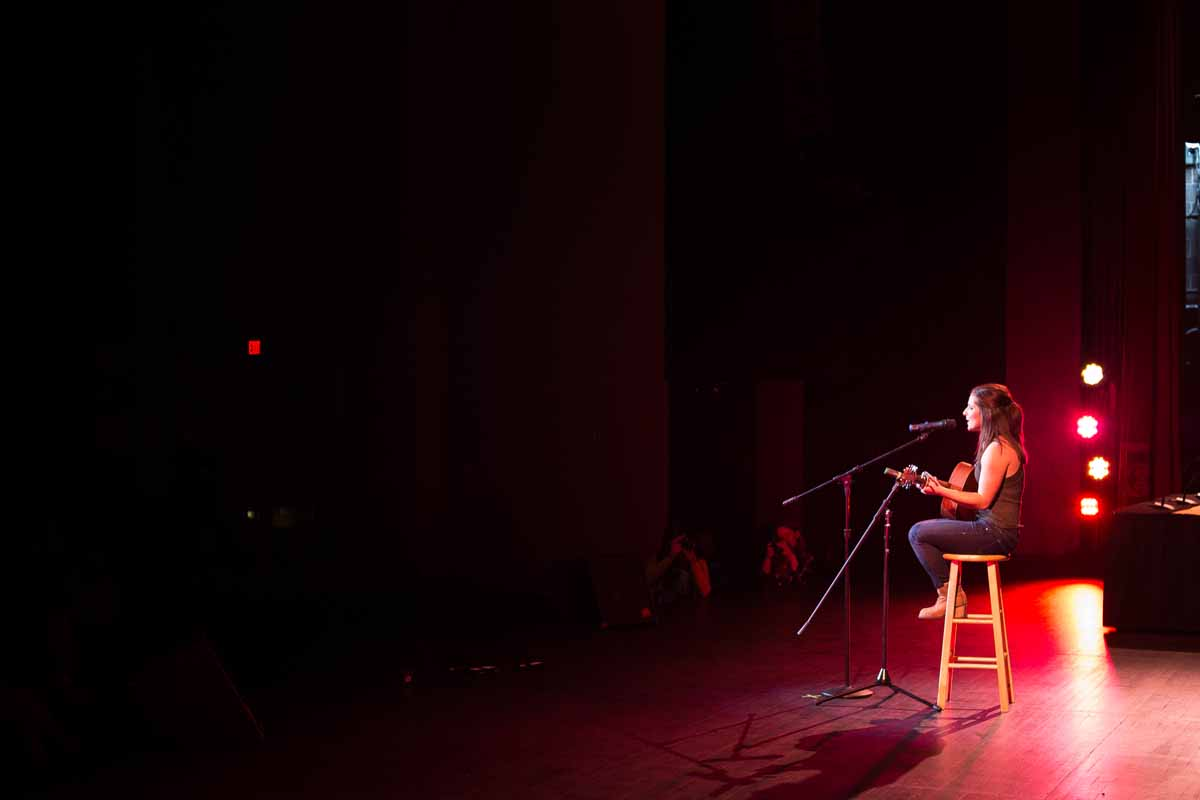 Mizzou Idol winner Breanna Lehane plays her final song of the night after winning Mizzou Idol 2016. Photo by Jake Hamilton.