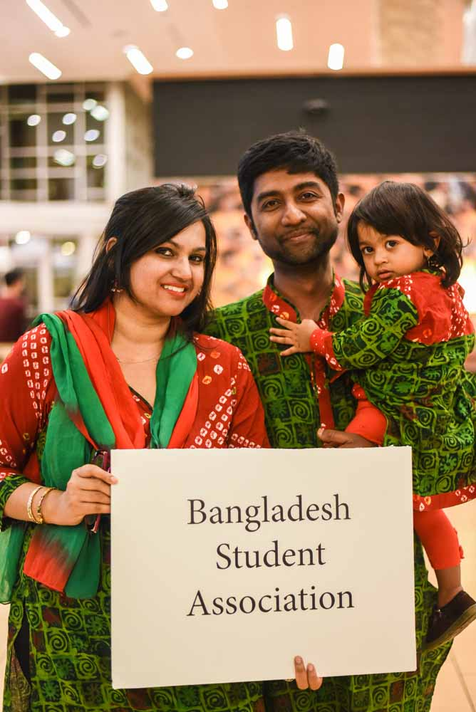 The Adnan family supported friends of the Bangladesh Student Association at the International Welcome Party on Saturday, February 6, 2016. (Photo by Morgan Lieberman)