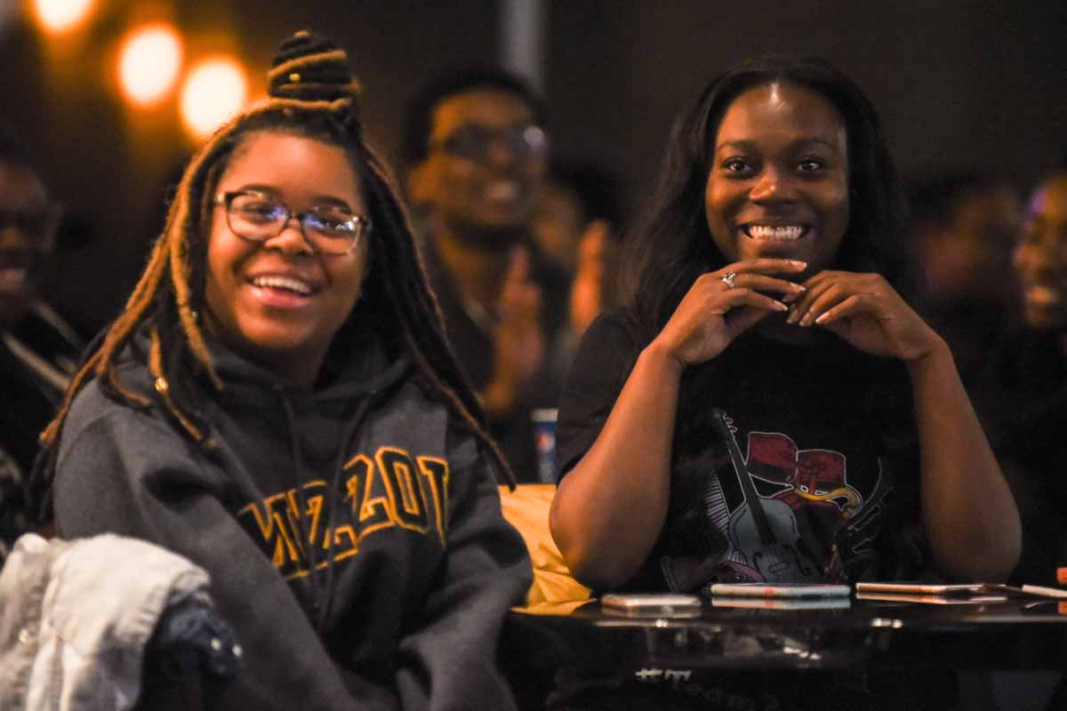 The Shack was packed with students on Feb. 1, for a ZouSoul Concert, performances dedicated to the history of black popular music. Photo by Morgan Lieberman.