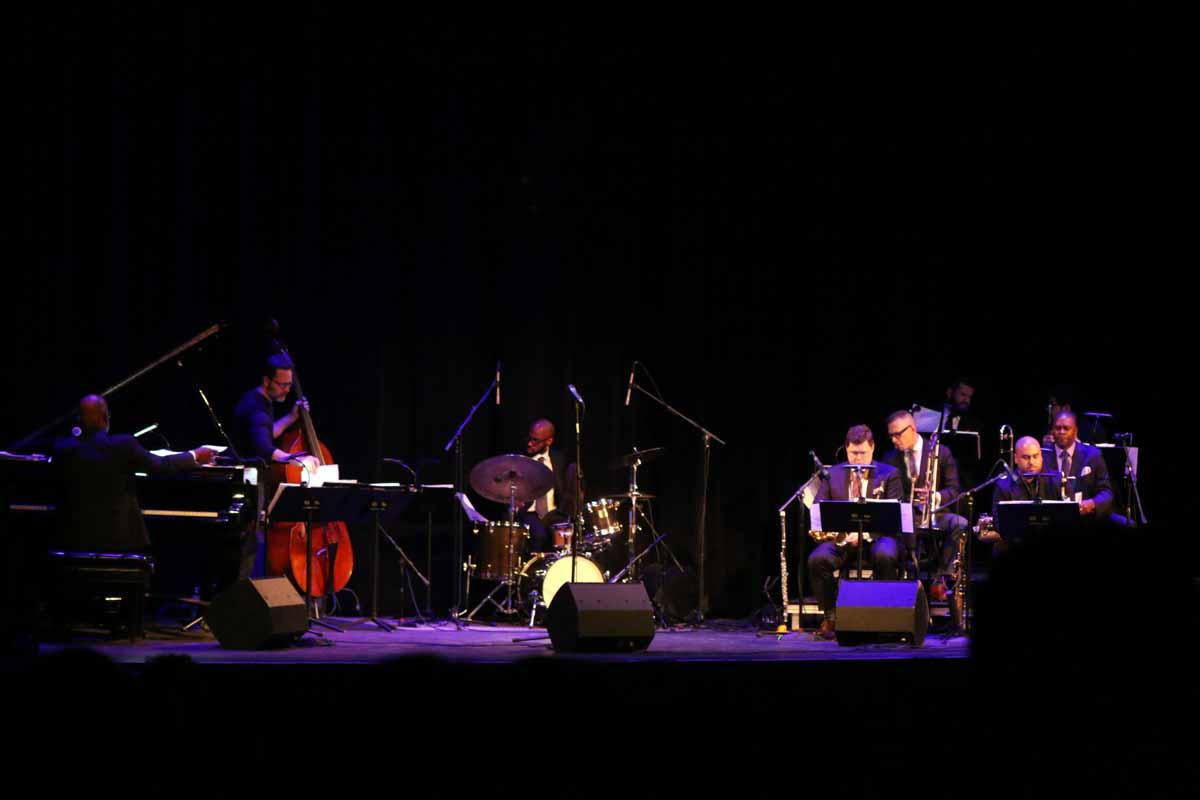 Orrin Evans' Captain Black Big Band plays a tribute to Missouri artist Thomas Hart Benton on Feb 4, at the Missouri Theatre. Photo by Tanzi Propst.