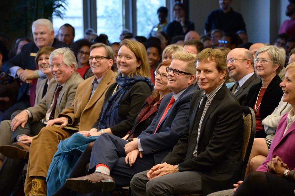 Ellen Eardley in center of audience.