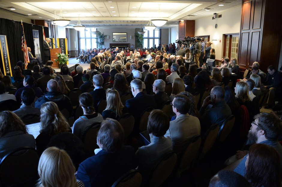 Crowd shot at State of the University Address.