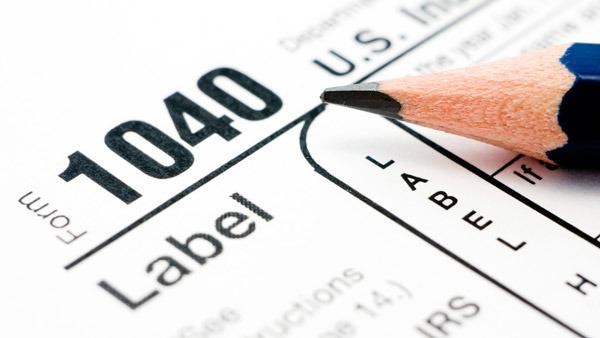 Tax form photo illustration.