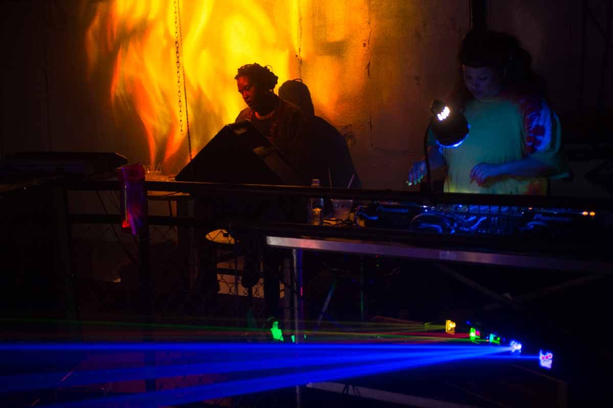 DJ Bwaha, Cousin Cole, DJ Abby, and DJ Bearcat keep the dance floor moving at the @ction! Party on Friday night at Tonic. Photo by Shane Epping.