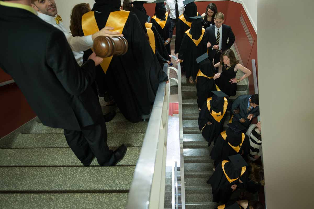 Mortar Board on stairs