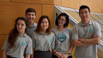 Team Recordly (l to r): Yaryna Mykhayalyshyn, John Gillis, Anna Maikova, Sintia Radu and Zolbayar Magsar
