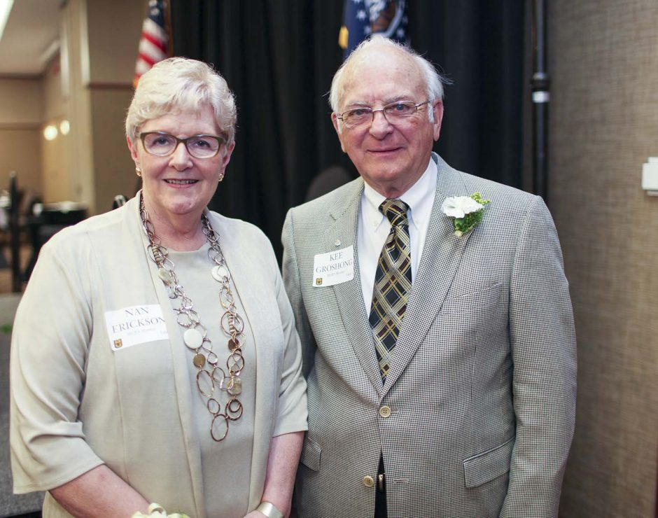 Annual MU Retirees Association luncheon with retirees of the year Nan Erickson and Kee Groshong