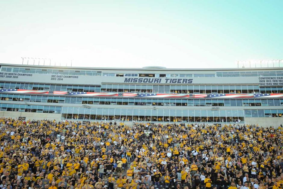 51,192 fans attend Mizzou's first home game in Memorial Stadium.