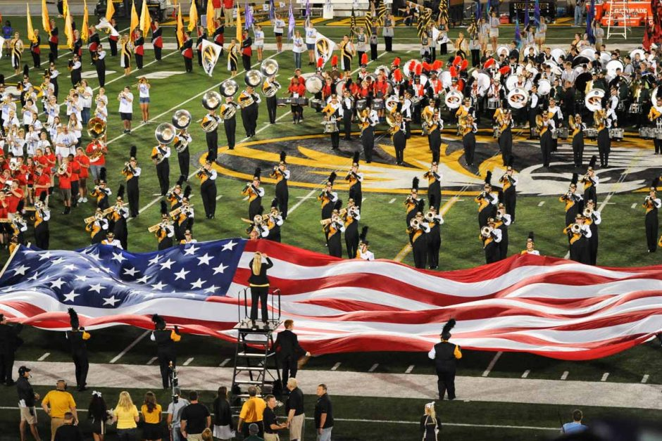 Marching Mizzou performs during halftime.
