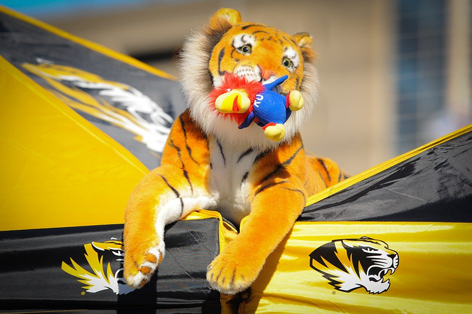Although Mizzou isn't scheduled to play Kansas anytime soon, fans keep the rivalry alive and well. Photo by Shane Epping.